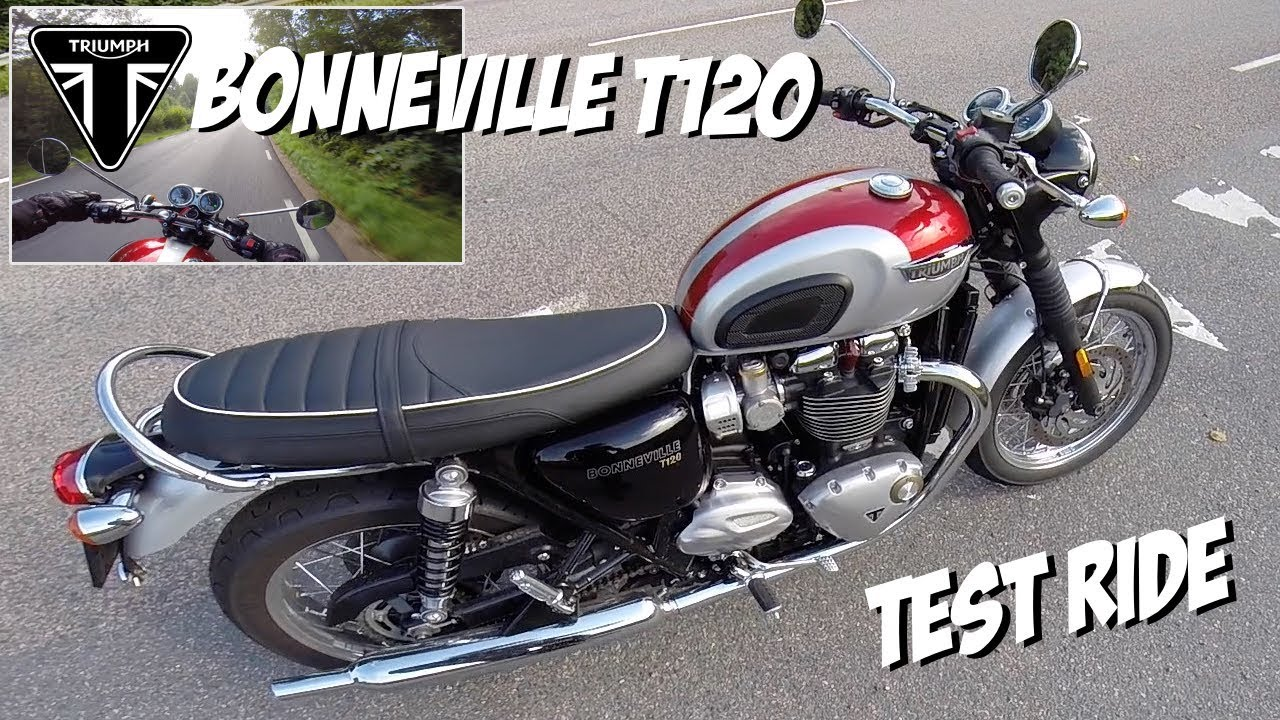 triumph bonneville t120 test ride youtube. Black Bedroom Furniture Sets. Home Design Ideas