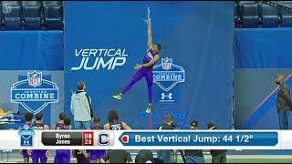 Byron Jones - Рекорд Мира в прыжке в высоту и в длину (среди игроков в америк.футбол)