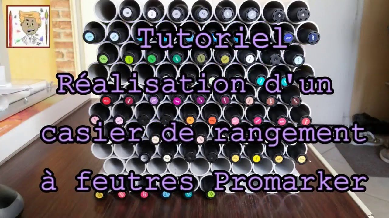 tutoriel r alisation d 39 un casier de rangement pour marqueurs youtube. Black Bedroom Furniture Sets. Home Design Ideas