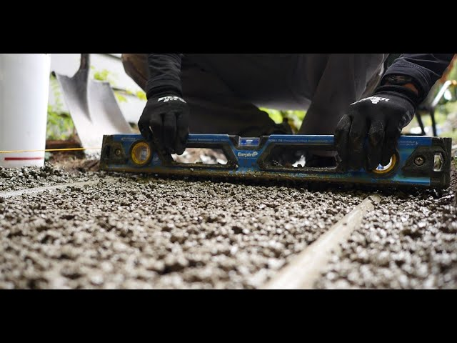 HOW TO INSTALL Romex TRASS BED Frost Resistant Drainage Mortar