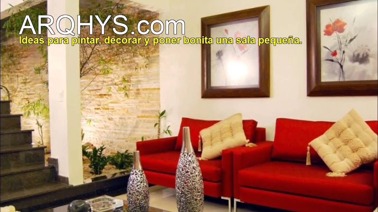Ideas para decorar una sala econ mica y peque a youtube for Como amueblar una sala