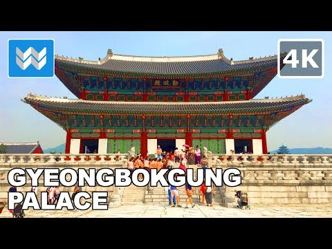 Walking tour of Gyeongbokgung Palace in Seoul, South Korea 【4K】🇰🇷