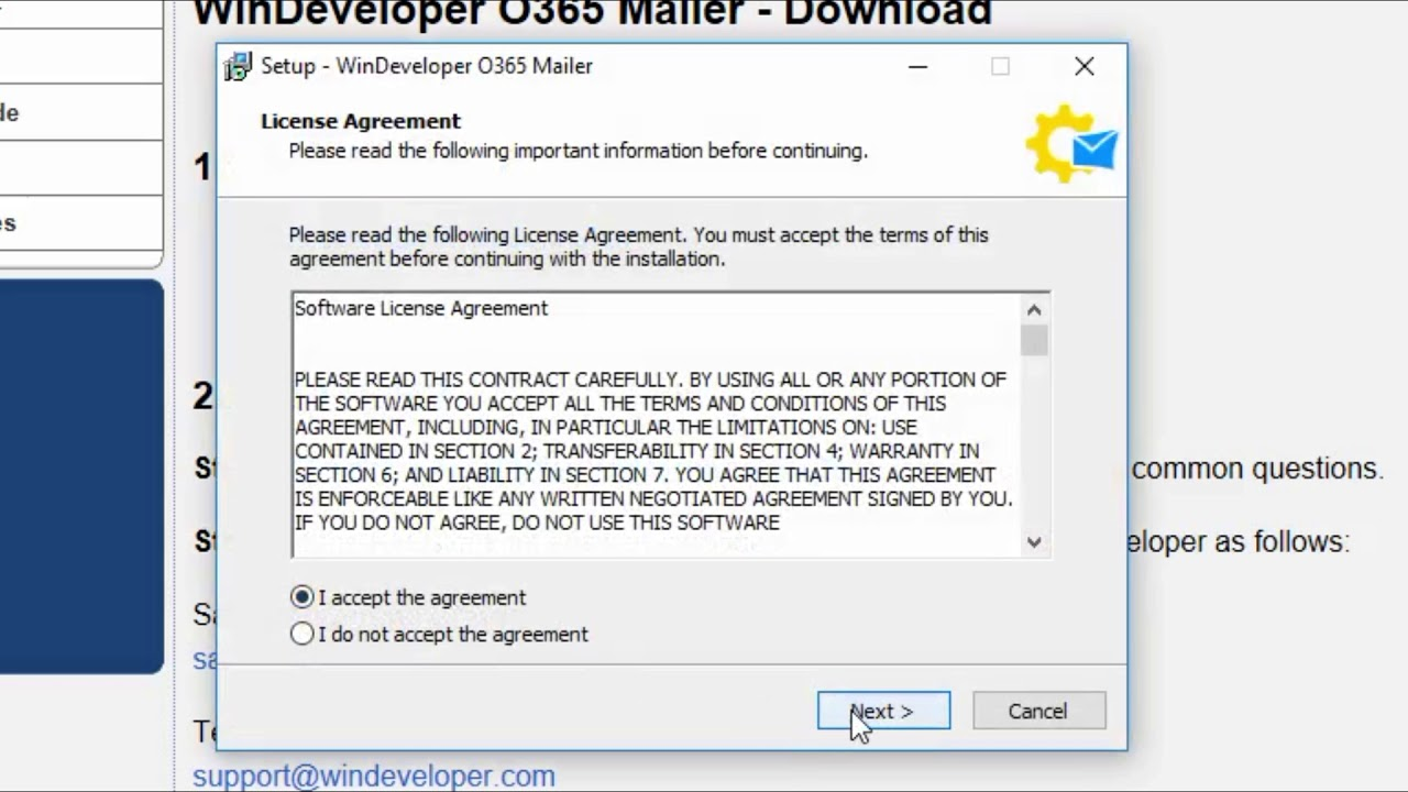 Installing The O365 Mailer With A Free 1 Year License Youtube