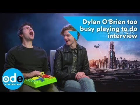 MAZE RUNNER: Dylan O'Brien too busy playing to do interview