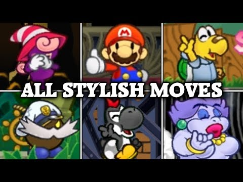 Paper Mario: The Thousand-year Door All Stylish Moves