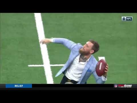 Conor McGregor Throws a Football