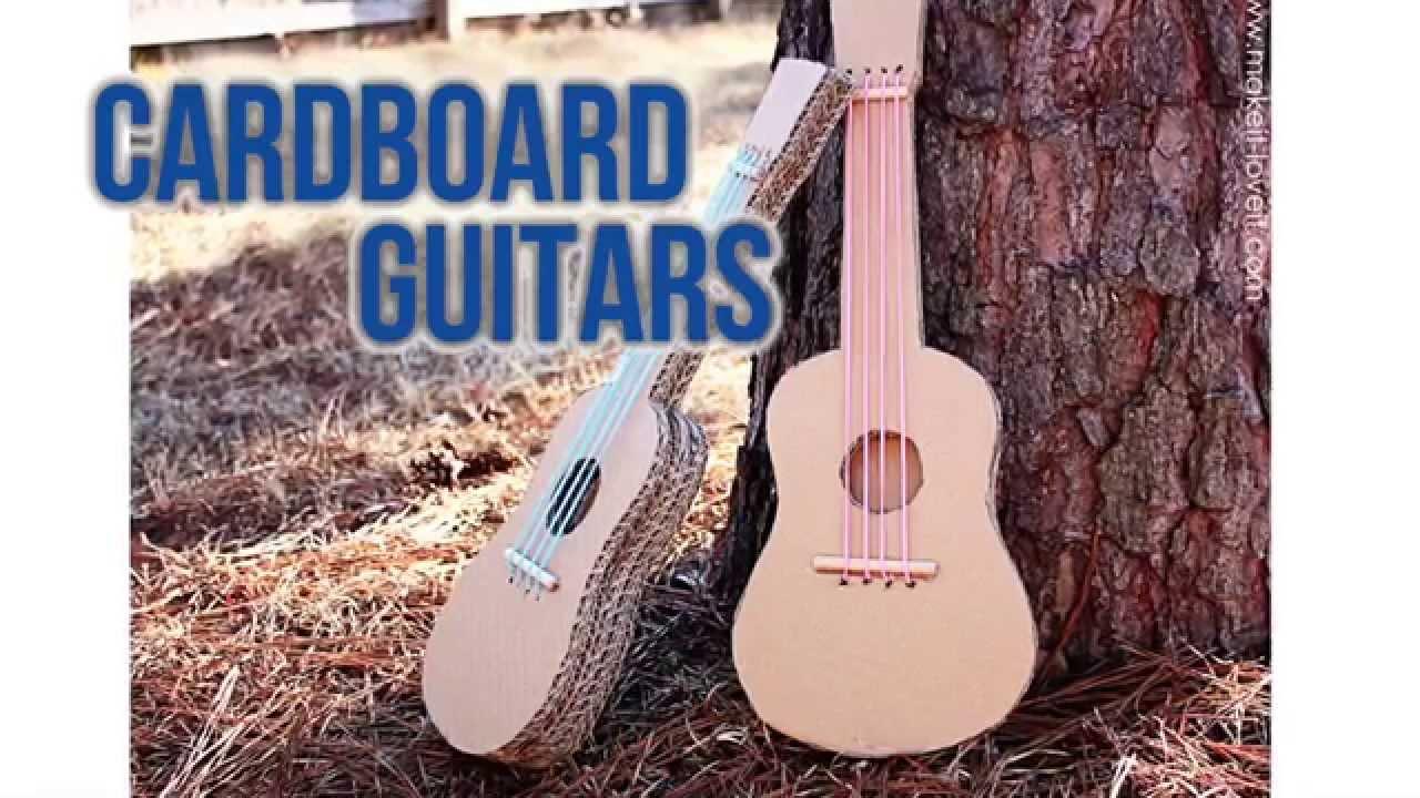 how to make a diy cardboard guitar - youtube
