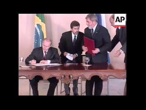 WRAP President Putin meets President Lula, visits football stadium