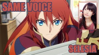 Same Anime Characters Voice Actress with Re: Creator's Selesia Upitiria