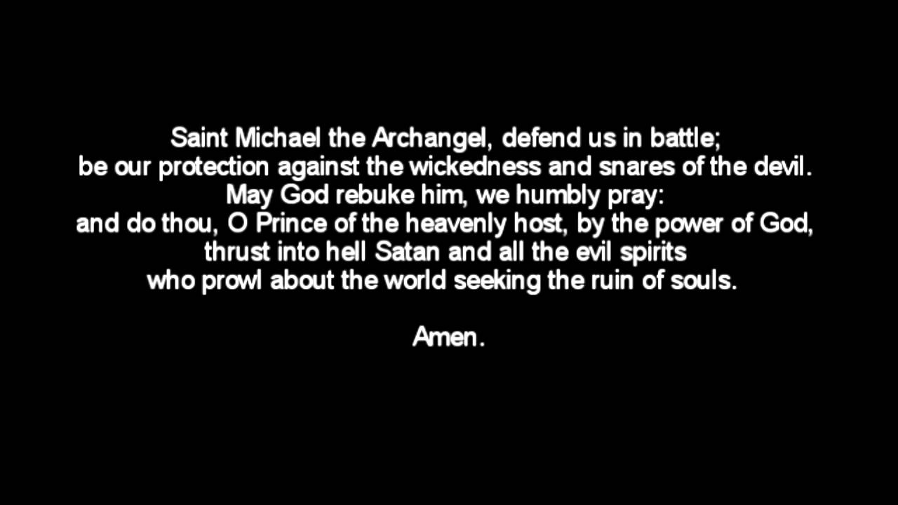 Prayer to the Archangel Michael against the evil forces
