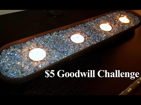 $5 Goodwill Challenge | Tray with Crush Glass | MOOREGIRL