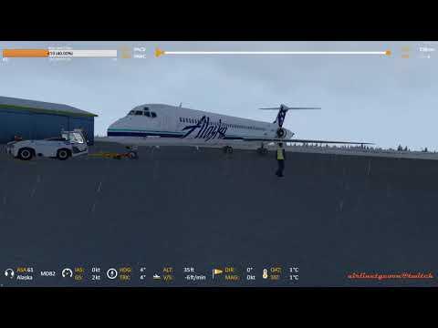[GER/ENG] HD - P3D MD-82 Alaska Challenge