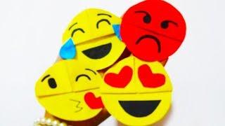 DIY Emoji Paper Bookmarks of Paper Art & Crafts School Fun