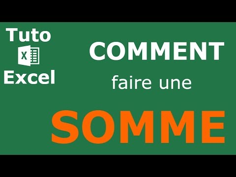 comment faire une somme sur excel youtube. Black Bedroom Furniture Sets. Home Design Ideas