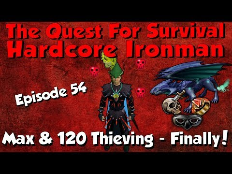 Hardcore Ironman! Finally Maxed & 120 Thieving Tab! [Runescape 3] Episode #54