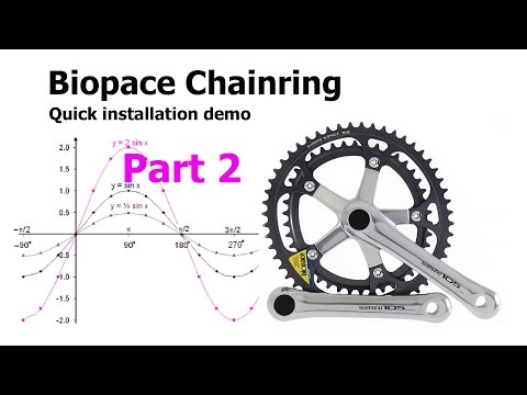 [demo] How to install the old 1990's biopace chainring so that it actually works!