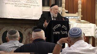 """הרב ישראל מאיר לאו כז אלול תשע""""ח- 05/09/18 Rabbi Israel Meir"""