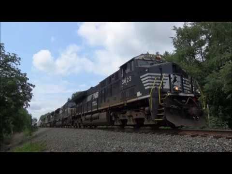 NS Sand CSX ES40DC, CP AC4400CW & NS Dash 9 Meet Freight 14N with 171 cars  - SD80MAC
