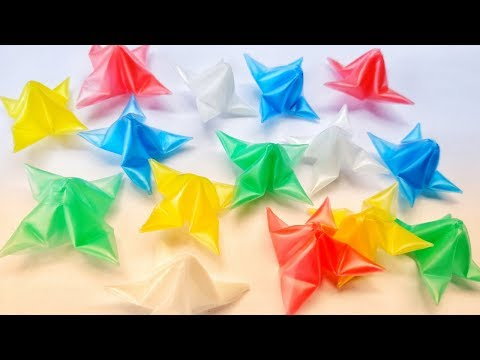 How to make Beautiful Stars by using Drinking Straws