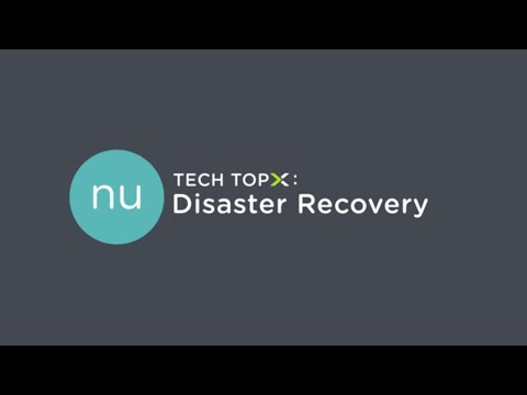Tech TopX: Disaster Recovery
