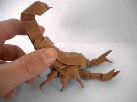 origami scorpion tadashimori youtube