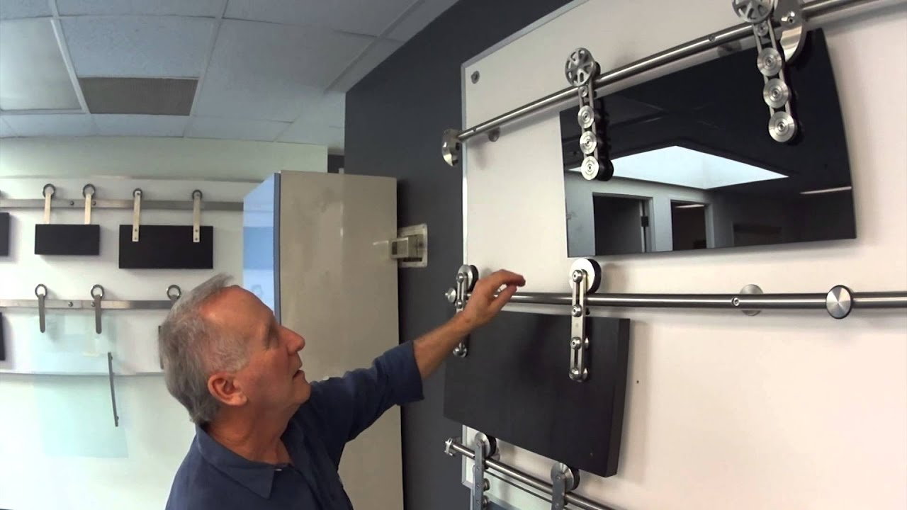 Barn Door Hardware Demos. Specialty Doors  sc 1 st  YouTube & Barn Door Hardware Demos - YouTube