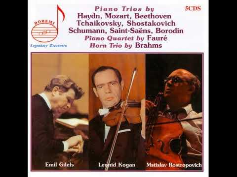 CD3 The famous Gilels/Kogan/Rostropovich. Trio Recordings.