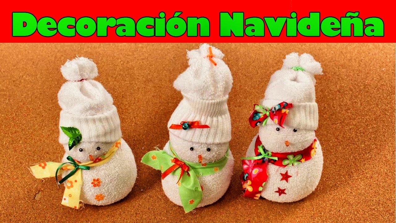 C mo hacer un mu eco de nieve con un calcet n adornos de - Como hacer adorno de navidad ...