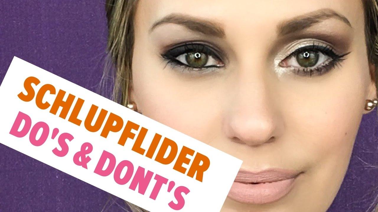 Schlupflider richtig schminken youtube - Schlupflieder schminken ...