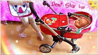 ОБЗОР 🚺 Коляска для куклы 2 в 1 Demi Star Lux 🎀  ДЕТСКИЙ МИР УФА Baby doll Unboxing Toys