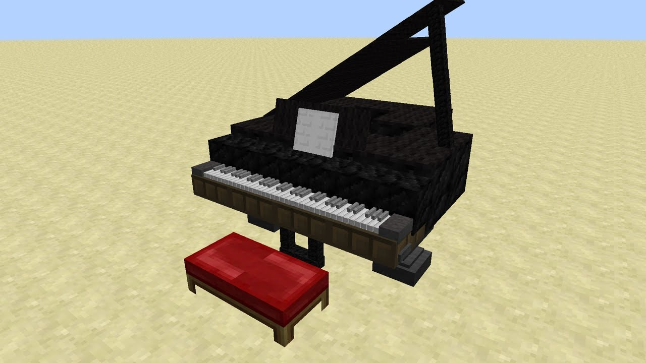 Minecraft | How To Make A Piano - YouTube