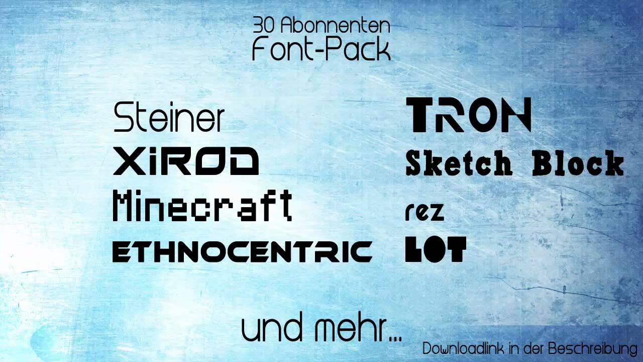 Download 30 Abonnenten - Font-Pack Download - YouTube