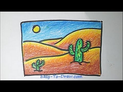 How To Draw A Cartoon Desert Step By Step Free Easy Tutorial For