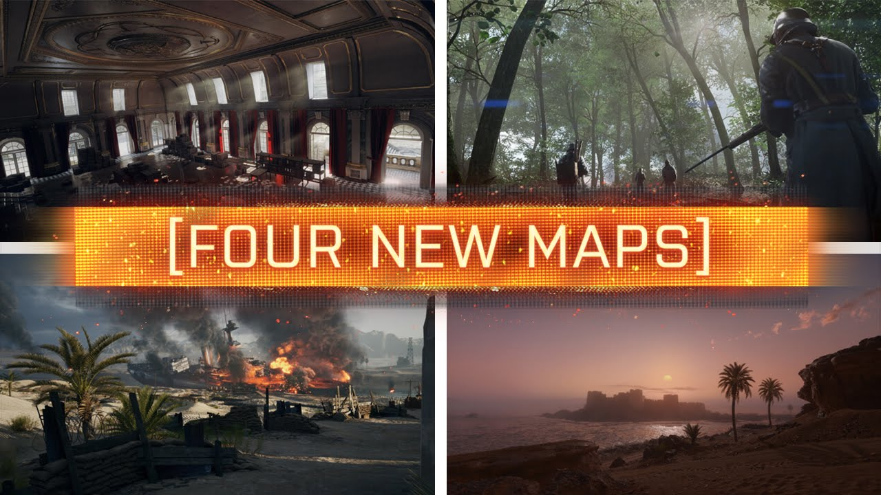 4 NEW MAPS REVEALED    Battlefield 1   YouTube