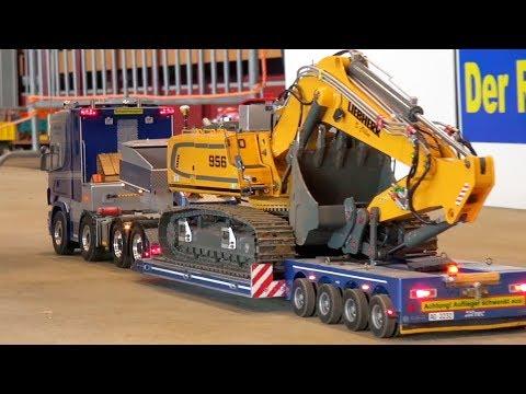 RC TRUCK ACTION! MAN! Scania! MB Arocs! Liebherr! RC Dozer! RC Construction SIte Alsfeld!