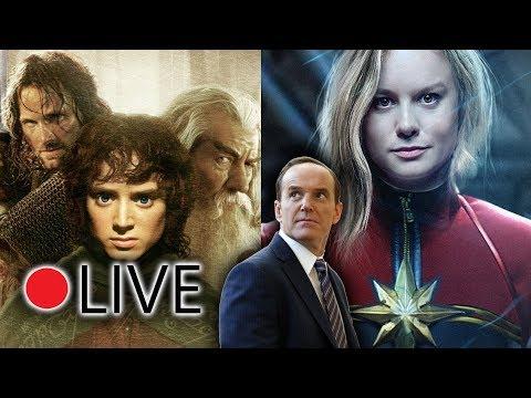Il ritorno di Phil Coulson in CAPTAIN MARVEL, Novità sulla serie del Signore degli Anelli | LIVE