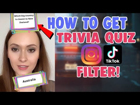 How To Get Trivia Quiz Instagram Questions Filter Tiktok How To Create Instagram Filter Youtube