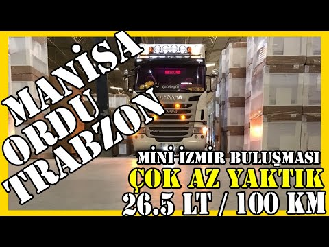 MANİSA - ORDU - TRABZON / Mini İzmir Buluşması / 26.5 lt / 100 km - Çok Az Yaktık !
