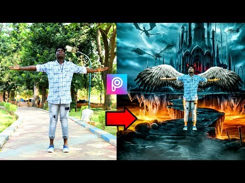 PicsArt man Angel  wings manipulation  editing tutorial