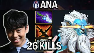 OG.ANA PHANTOM LANCER WÏTH 26 KILLS - DOTA 2 7.28 GAMEPLAY