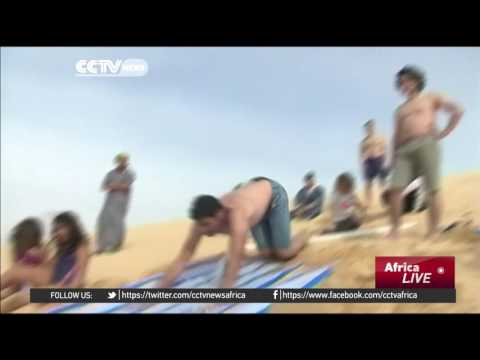 Water slide gives fresh edge to Egyptian oasis of Fayoum