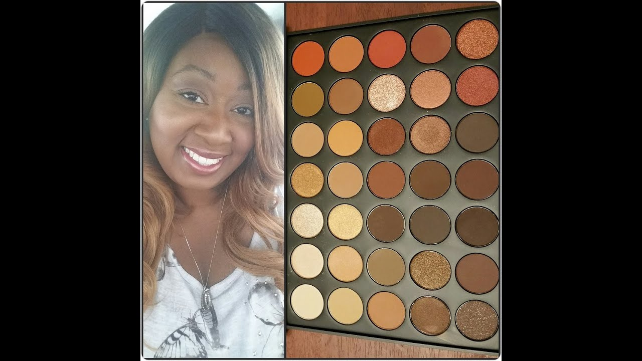 Review Morphe Brushes 350 35 Color Nature Glow Eyeshadow Palette Youtube