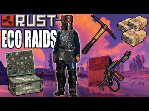 Rust: BEST ECO RAIDS - MAD JUICE for CHEAP ( Raid Tower, Satchel, Pickaxe, C4 )