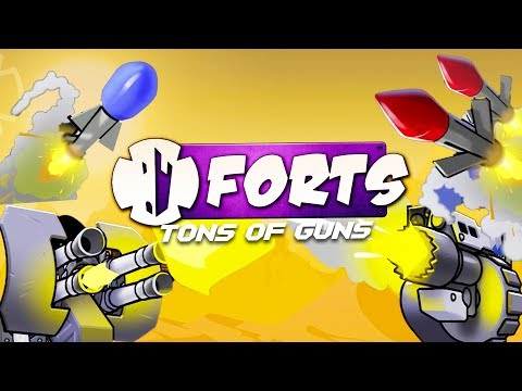 MEGA ROCKETS and FIRE BEAMS Destroy the ENEMY BASE! - Forts Multiplayer Gameplay