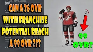 Can A 36 OVR With Franchise Potential Become a 99 OVR? NHL 18
