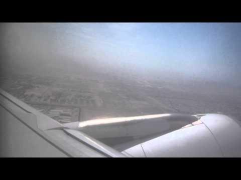 Take off from Sharjah International Airport, UAE