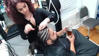braids and beard trim