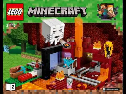 Lego Instructions Minecraft Set 21143 THE NETHER PORTAL 2/2 - YouTube
