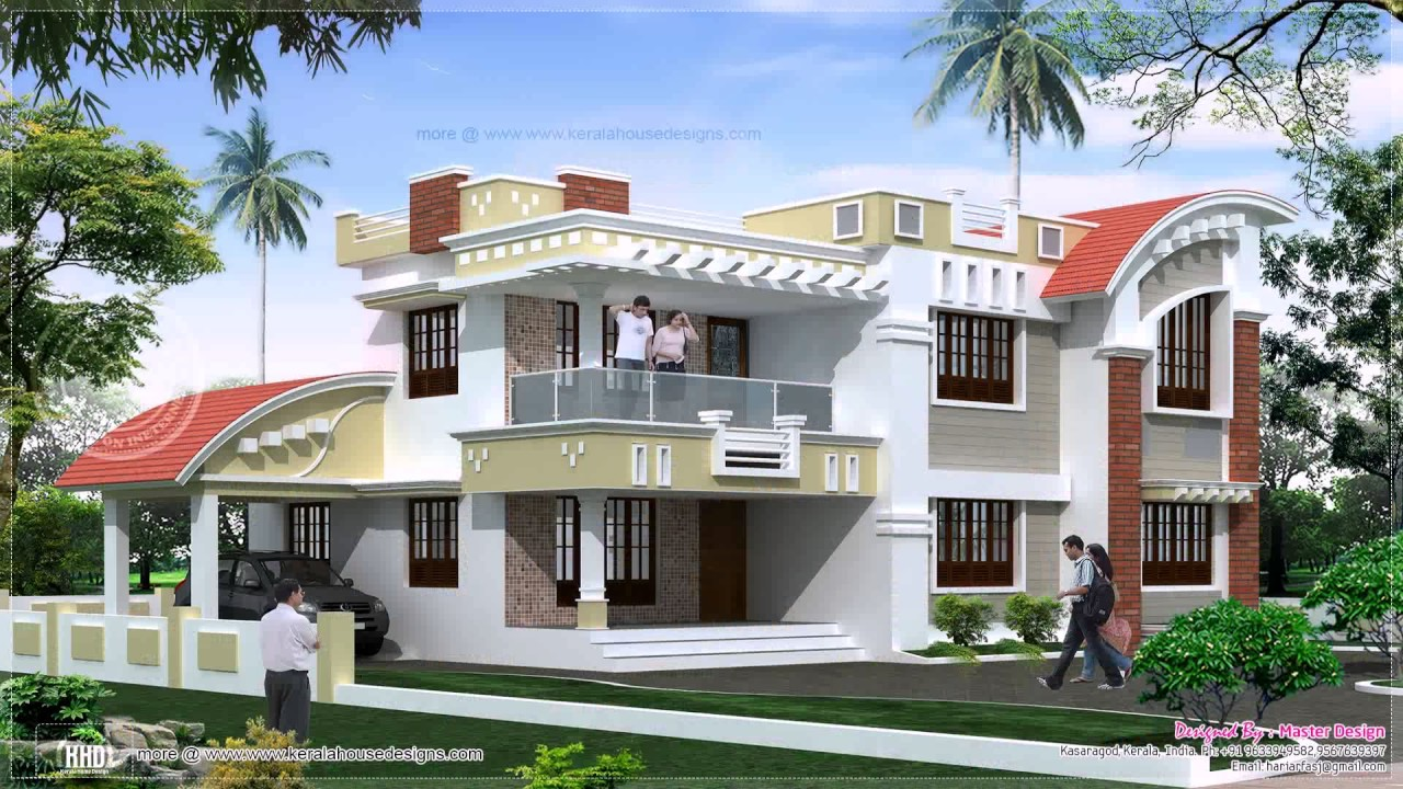 House Designs Indian Style Pictures Middle Class - YouTube