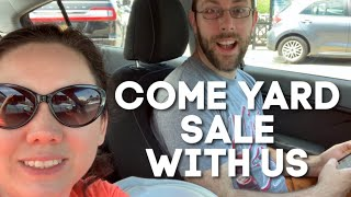 Come Yard Sale with us!   Live Action Garage Sales